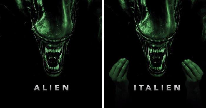 Alien & Italien meme (alien with Italian fingers gesture)