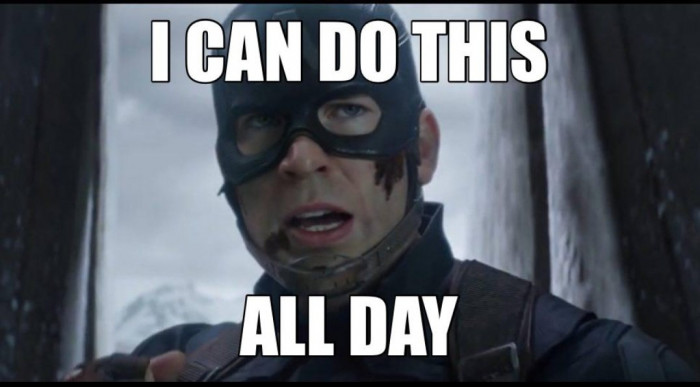 I can do this all day Captain America meme
